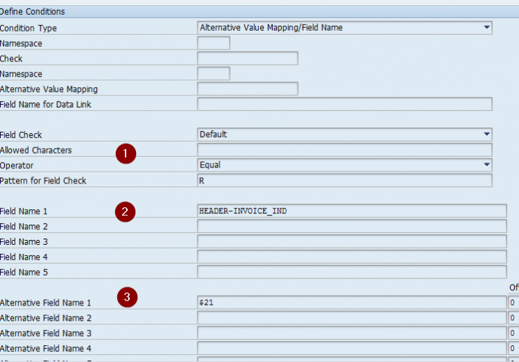SAP AIF condition steps